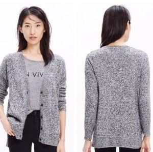 MADEWELL Landscape Cardigan Sweater Marled Grey